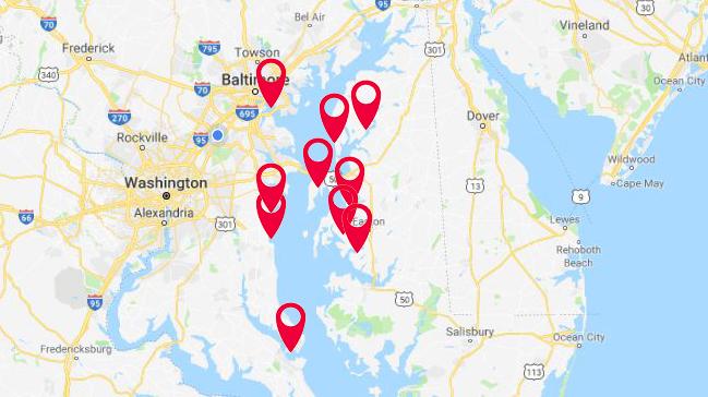 Top 10 Cruising Destinations on the Chesapeake Bay
