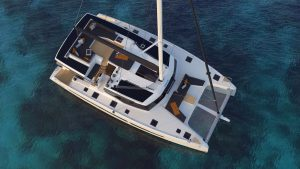 Overhead view of the Fountaine Pajot New 51